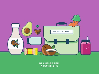 Plant-based essentials for The Vegan Carrot