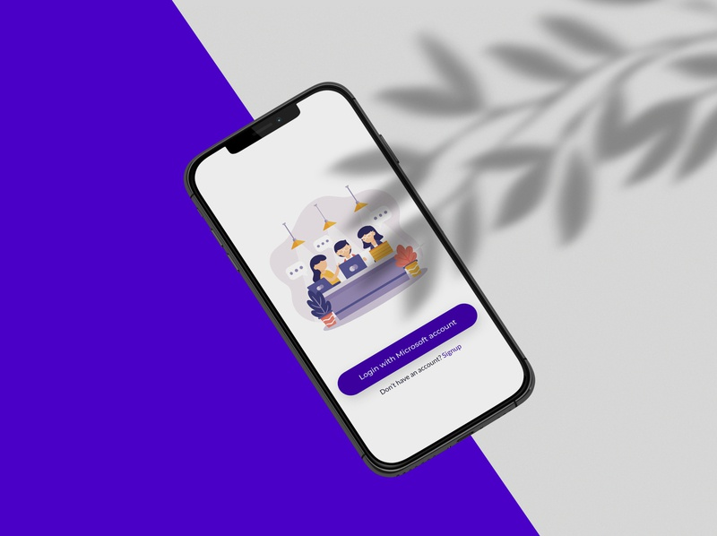 Login page for a mobile app