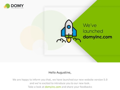 Emailer for Web site launch