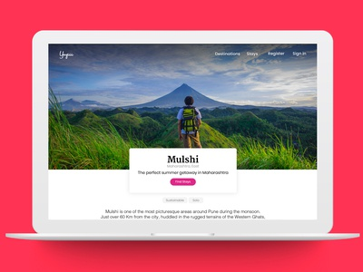 Travel website inner page