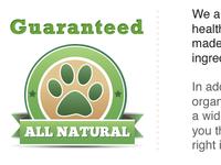 Detail of natural pet store website