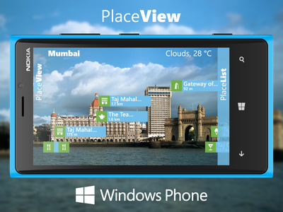 PlaceView for Windows Phone windows phone augmented reality app placeview