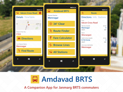 Amdavad BRTS for Windows Phone app amdavad ahmedabad brts janmarg windows phone