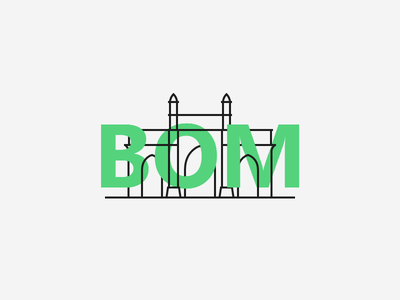 BOM gateway of india logo bombay branding mumbai