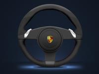 Porsche Steering Wheel porsche cars driving automotive automobile digitalpainting digitalart illustration