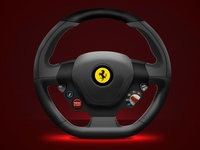 Ferrari Steering Wheel ferrari design driving digitalart illustration digitalpainting cars automotive automobile