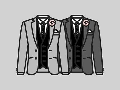 Outfit icon illustration jacket suit blazer wedding