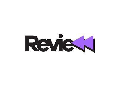 Review tv film rewind design logo review