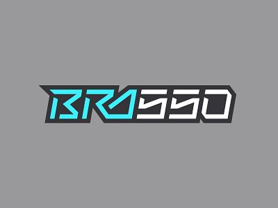 Bra550 mx motocross typography type brasso logo