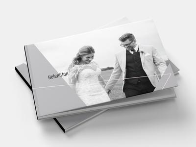 Wedding Album Front Cover wedding album hardback mockup geometric design layout wedding