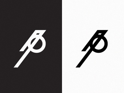 Magpie white black minimalistic minimal geometric icon logo bird magpie