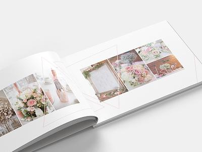 Wedding Album design blush marriage album wedding triangle geometric photography layout