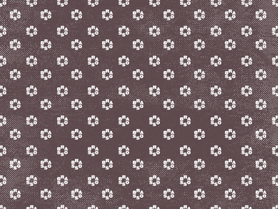 Ditsy Floral halftone distressed brasso pattern floral ditsy