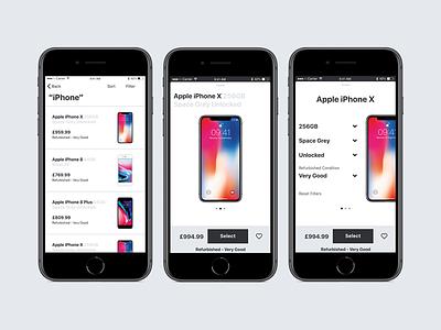 App Multi-variant Concept screen prototype swipe concept transition ui interface ux design ios mockup app