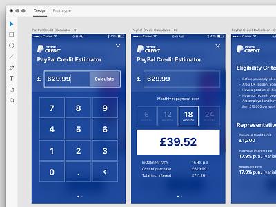 Daily UI 004 xd design app paypal mockup ux challenge interface calculator 004 dailyui