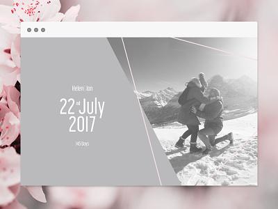 Daily UI 003 interface geometric desktop web couple marriage wedding page landing ux 003 dailyui