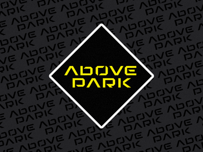 Above Park biking typeface display sticker black diamond mtb park above type mockup logo design