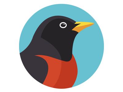 Birdie Flat Illustration