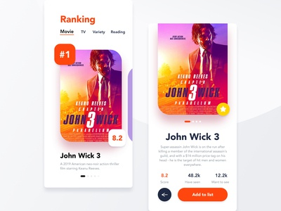 Movie rating App UI