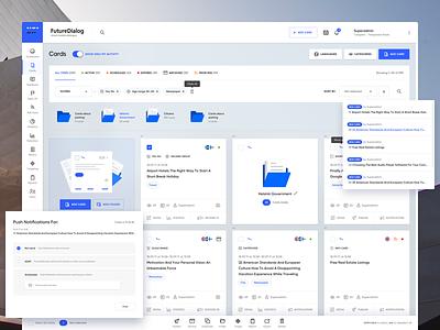 Future Dialog Dashboard statistics white ux ui saas erp dashboard crm app admin