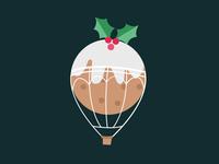 Flying Christmas Pudding