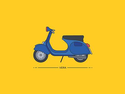 Vera, la Primavera motorbike scooter retro vintage old piaggio vespa