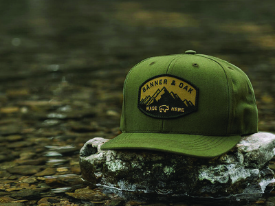 Banner and Oak Nebo Hat headwear hat badge patch explore outdoors adventure hiking hunting fishing camping