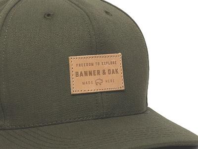 Banner and Oak - Pike Cap americana usa typography camping hiking buffalo fishing patch badge