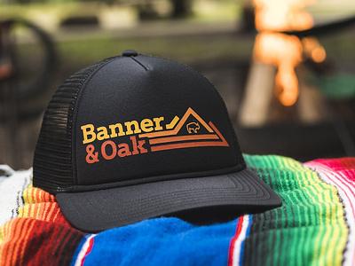 Banner & Oak Rockhopper Hat mountains nature hiking hunting fishing vintage hat logo outdoors camping