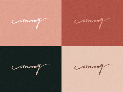 cocowong color matching handwriting name