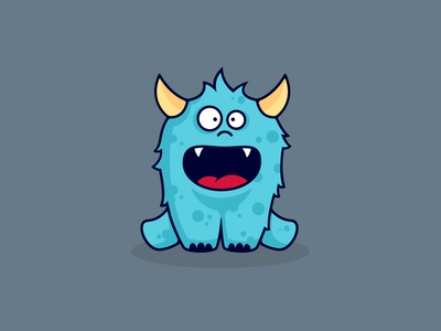 Babay monster horns cute babay southpaw illustration