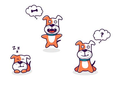Dog logodesigner actions emotions dog logo illustration southpaw character
