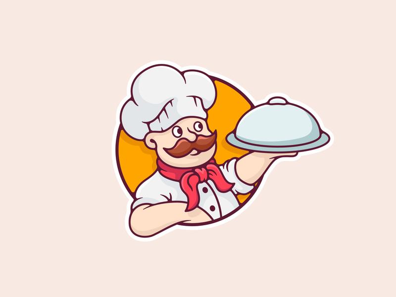 Cook dish kitchen food cook logodesign illustraion logo southpawdesign southpaw