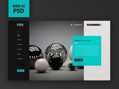 Visual Studio Web UI PSD visual studio full page psd website psd ui  ux design web design