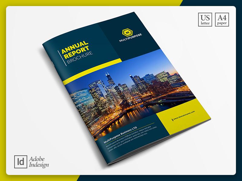 Corporate Annual Report Template annual report company document brochure design project proposal real estate graphic design print design