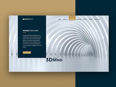 Unity3D Homepage Redesign concept