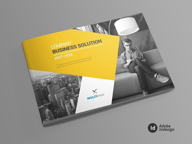 Business Solution Landscape Brochure Template By Layout Design LTD - Landscape brochure template