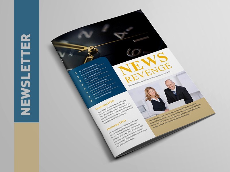 creative corporate newsletter template by layout design ltd