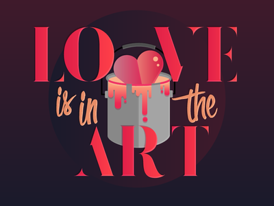 Love is in the art <3 texture illustration typography gradient icon art heart love valentines