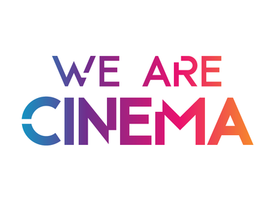 We Are Cinema - Virtual Reality typography gradient logo vr reality virtual cinema