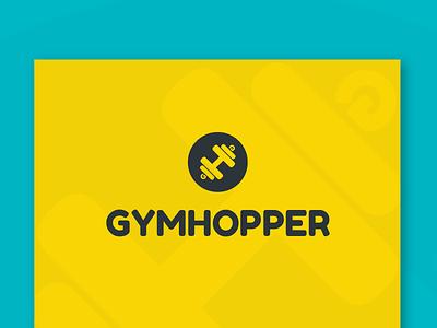Gymhopper - Brand Indentity flat fitness logo gym