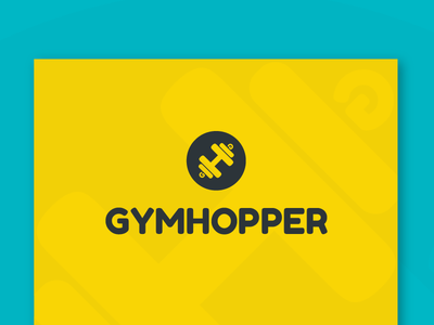 Gymhopper - Brand Indentity flat fitness logo gym