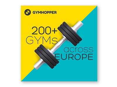 Gymhopper instagram media social advertising flat fitness gym