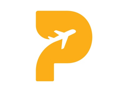 Pull Trip Logo p icon p monogram fly travel agency travel plane trip p logo