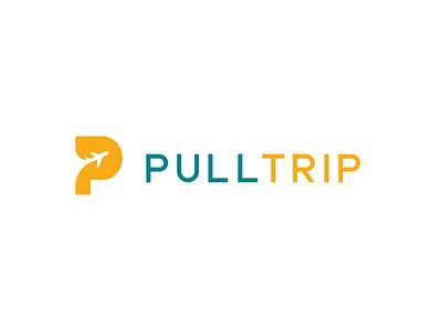 Pull Trip icon p pull tour agency travel trip brand logo airplane