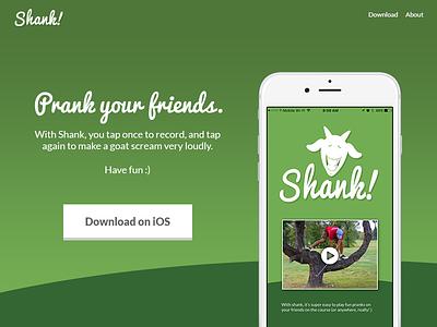 Shank Landing Page app ios marketing landing-page 003 dailyui
