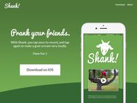 Shank Landing Page