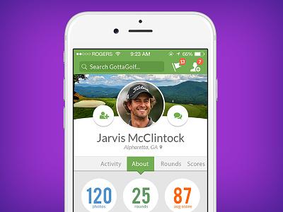 Profile Update Ideas  social profile app 006 dailyui