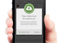 Video Upload Success Message