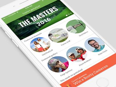 Explore - Homescreen content browse ui mobile